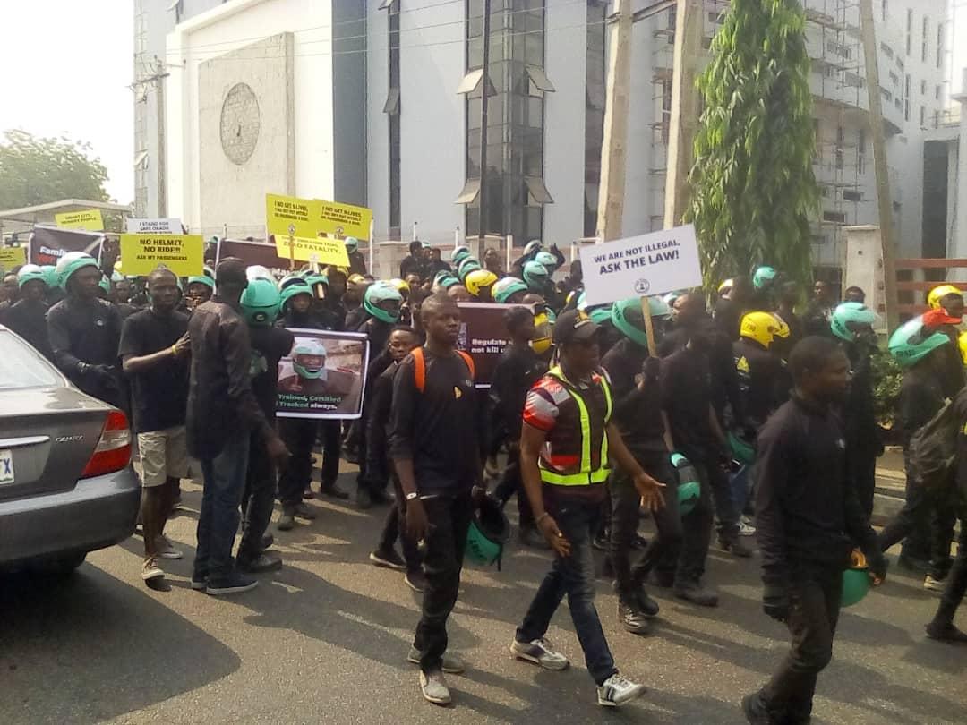 Update: Okada/Keke Ban: Riders protesting from Oregun to Alausa now