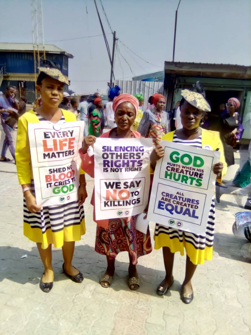 PHOTOSTORY: Insecurity: Pastor Adeboye leading a payer walk in Lagos